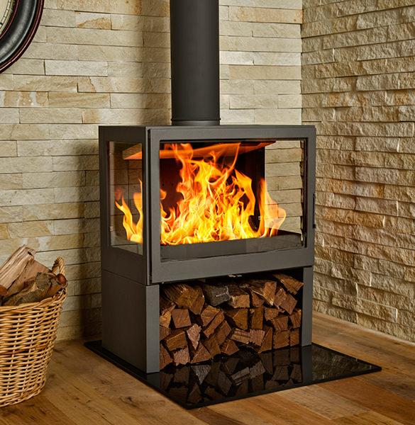 Wood Burning Fireplaces Bavorov Side Glass